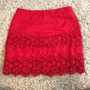 J.Crew mini skirt with floral embroidery